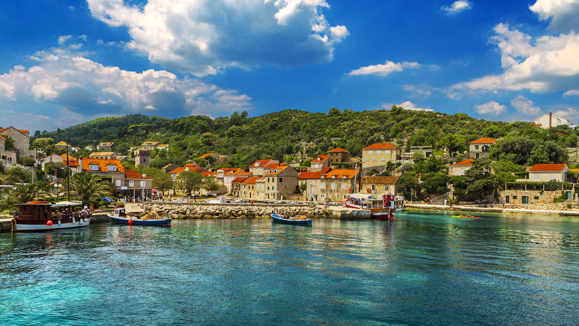 Island Of Sipan, Croatia