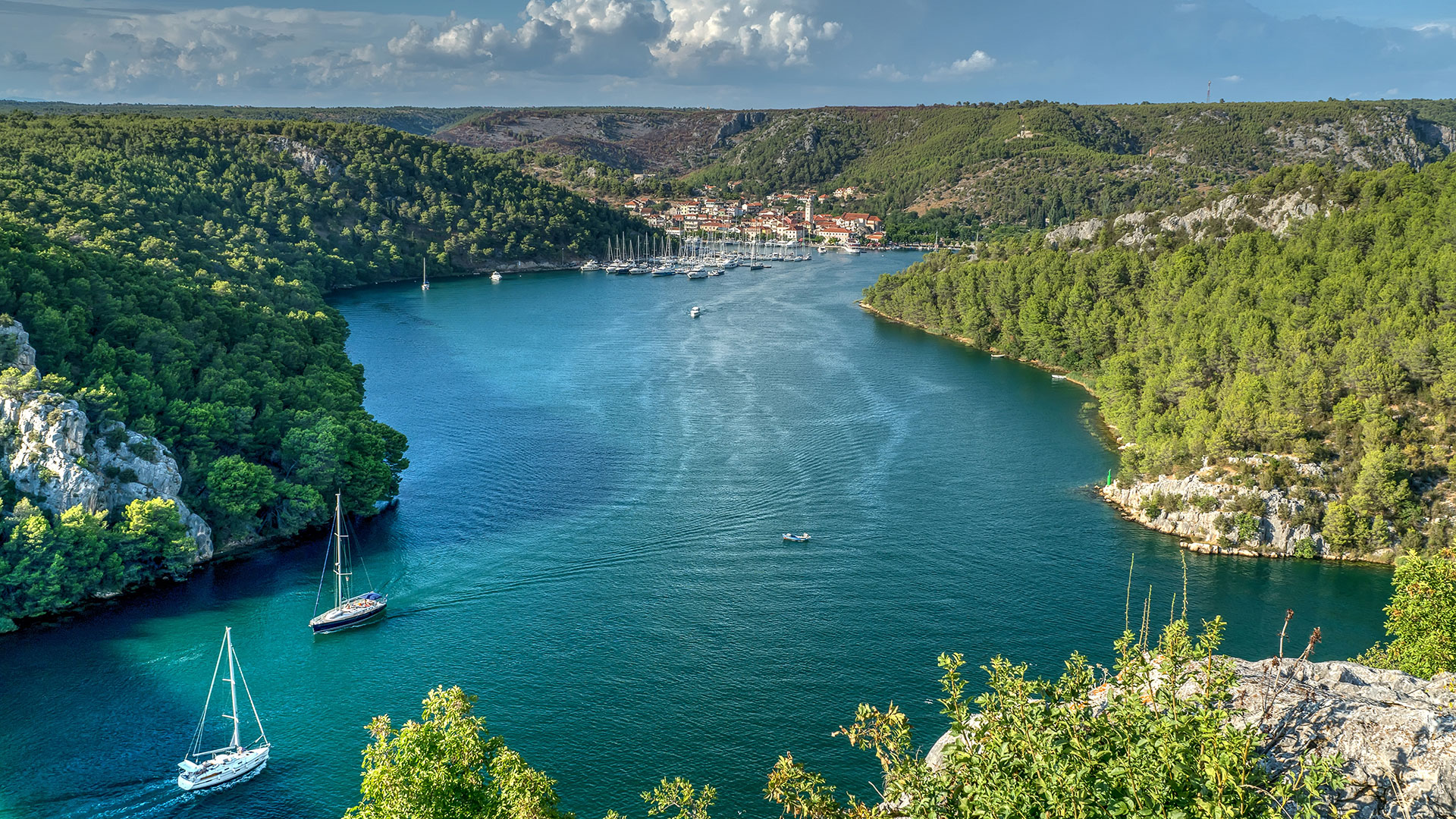 Krka River And Skradin City, Croatia